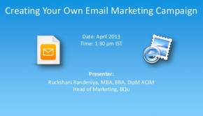 Free Webinar: Creating your own email campaign